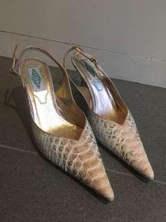 Genuine Crocodile leather heels