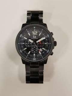 黑鋼男裝手錶 40mm Black Men Watch