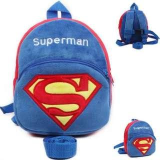Clearance Sale Toddler Backpack Anti-Loss, Superman Design