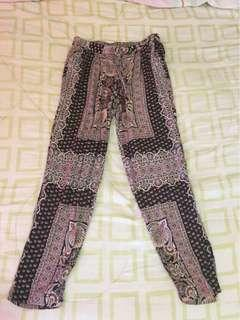 Stradivarius printed trousers