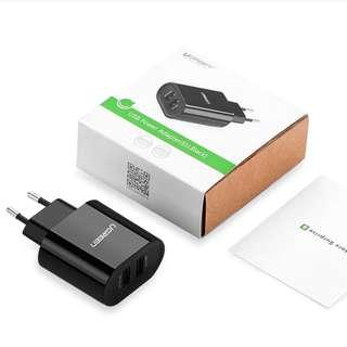 Clearance Sale UGreen Dual USB Phone, Tablet Charger white