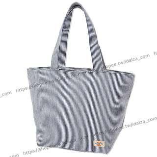☆Idalza☆ MINI 日本雜誌 附錄 潮牌 Dickies 條紋 大 單肩包 托特包 手提袋 旅行袋 現貨