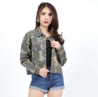 Jacket Loreng Vintage Army