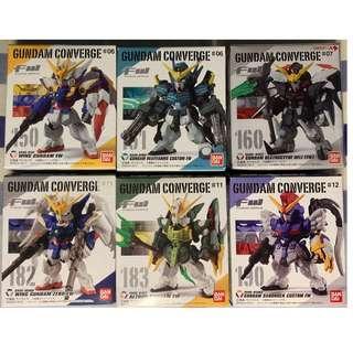 全新 FW Gundam Converge- W Series (6隻- #150, #151, #160, #182, #183, #190)