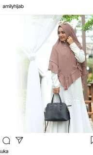 Amily Dress Syar'i warna Putih + Inner Dress PRELOVED