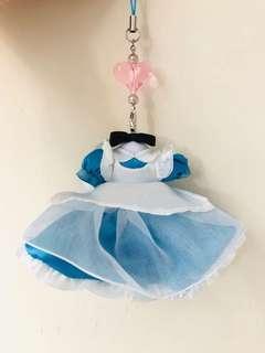 愛麗絲 Alice 衣服吊飾 日本迪士尼直購