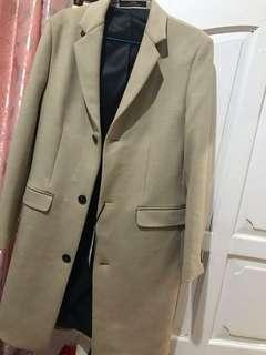 Long Coat zara mens new original jual rugi