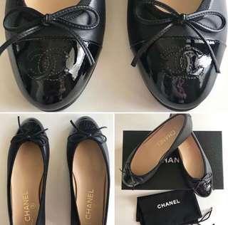 Chanel Ballerina Flats in Black Lambskin