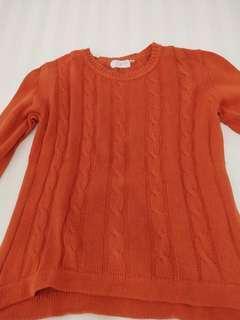 Sweater Gaudi Orange BONUS kemeja