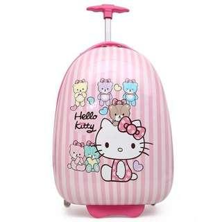 🚚 16 Inch Kids Luggage Pink Hello Kitty Disney Cartoon Cute School Bag Suitcase Gift Idea