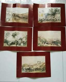 Old prints - scenery