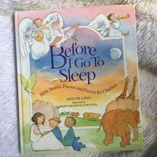 Before I Go To Sleep - Preloved Bedtime Bible Story Book