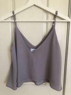 Grey crop top Delphine the label size 6