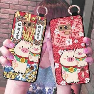 PO Samsung 2019 Lucky Pig Mobile Case w Palm Holder