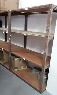 Sturdy metal storage shelve. Good condition