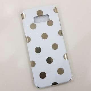 Samsung s8 plus case gold polka dot