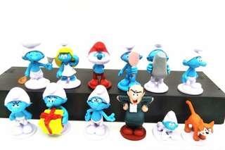New smurfs cake topper decoration figurines toy smurf blue man