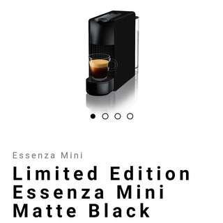 Nespresso Essenza Mini Matte Black (Limited Edition) with free capsules!