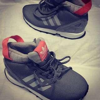 Adidas ZX Flux Trail Trainers Grey Pink Original