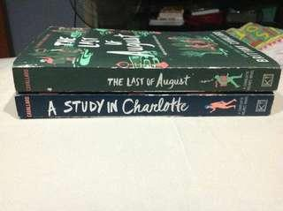 A Study in Charlotte/The Last of August by Brittany Cavallaro bundle