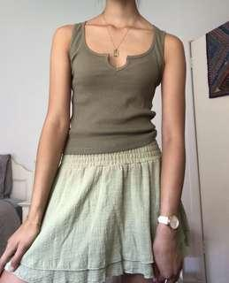 Glassons khaki ribbed tank top