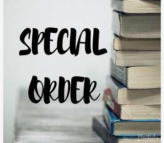 Special Order Malay Novel / Book
