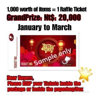 🚚 Raffle tickets