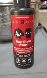 Tear stain antiseptic/cleaner