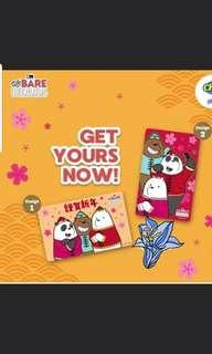 We Bare Bears CNY 2019 Ezlink Set