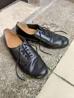 San Lee leather dance shoes suede sole UK7