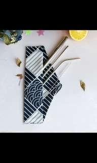 🚚 5 Instocks Metal straw