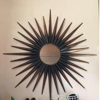 Wall Designer Mirror - Sun Pattern