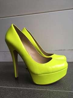 Bright yellow heels