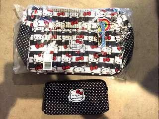 🚚 Jujube Hello Kitty Dots and Stripes Hobobe