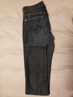 7 for all mankind jeans .Roxanne .size 26