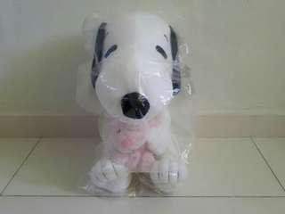 Snoopy with Pink Bear Plushy Authentic Item
