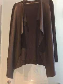 Zara leather cardigan