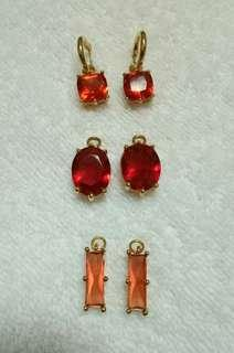 Multilook Ruby Earrings