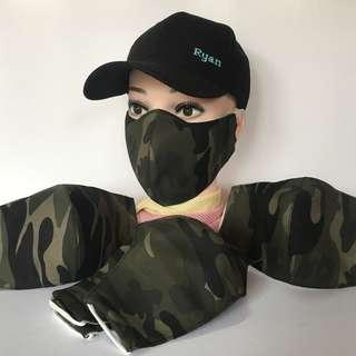 3 Layer Anti Dust Haze Fabric Face Mask - Camourflage