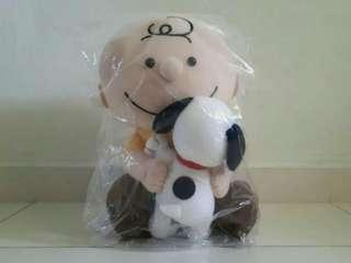Charlie Brown with Snoopy Plushy Authentic Item