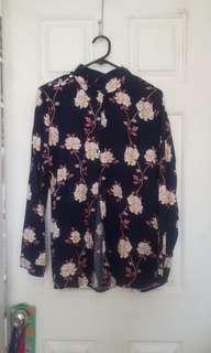 Navy Floral 'Rebecca' Button-Up BNWT