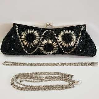 Beaded Hand Clutch with Sling