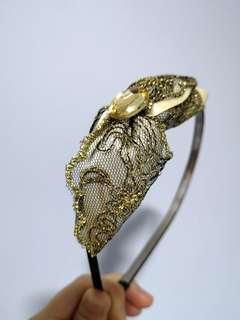 Pretty Gold & Lace Hairband
