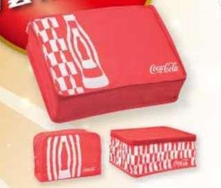 可口可樂 Coca Cola 三件裝 收納袋