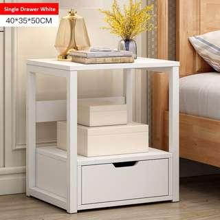 Quality Open Space With Single/Double Bottom Drawer Bedside Cabinet Nightstand