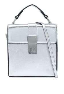 Mango coffer bag silver
