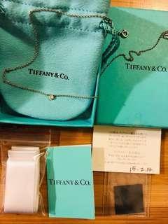 🚚 Tiffany 真鑽石 經典款項鍊 真品 單鑽