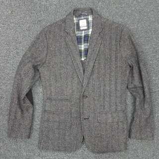 原價$1,200! 絕版聯乘Gap x 美國得獎男牌Michael Bastian Tweed人字絨cblazer外套