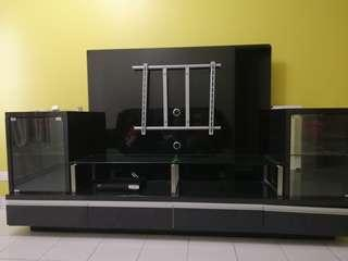 Glossy Tempered Glass TV Cabinet