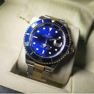 Rolex Submariner Blue Sunburst 16613T Watch